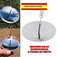 SOLAR ENCENDEDOR MECHERO CAMPING SUPERVIVENCIA SENDERISMO SCOUTS PESCA VIENTO