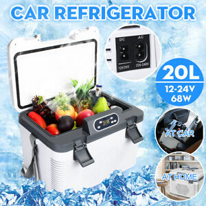 20L 12/24V Portable Car Home Refrigerator Double Cooler Heating Mini Fridge