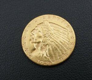 1925-D $2.5 Dollar Indian Head Quarter Eagle Gold Coin M1305