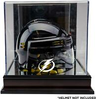 Tampa Bay Lightning Mahogany Logo Mini Helmet Display Case