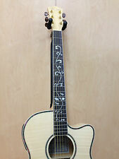 Caraya SDG-837CEQ/N All Flame Maple Acoustic Guitar,EQ/Tuner+Free gig bag