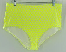 Aerie High Waisted Yellow Polka Dot Full Coverage Bikini Bottom Women XL