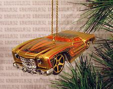 '74 CHEVY MONTE CARLO 1974 GOLD ORANGE CHEVROLET CHRISTMAS ORNAMENT XMAS