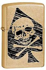 Zippo 6324 skull ace of spades RARE & DISCONTINUED Lighter