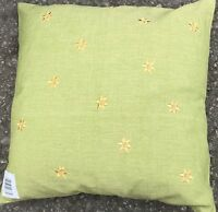 Set Of 4 pastel green with gold emb cushion covers Free P&P Only £6.99 set