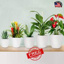 Plastic Planter, Homenote 7/6/5.5/4.8/4.5 Inch Flower Pot Indoor Moder
