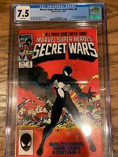 SECRET WARS #8 CGC 7.5 1ST BLACK COSTUME MARVEL COMICS 1984, NR! Spider-Man ASM