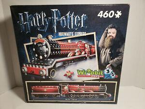 """Wrebbit 3D Puzzle Harry Potter Hogwarts Express 460 Piece Complete Size 24.75"""""""