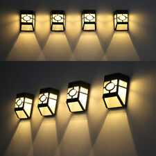 Solar Powered Mount LED Wall Light Outdoor Garden Landscape Yard Lamp White/Warm