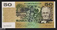 Australia R-505F. (1973) 50 Dollars - Phillips/Wheeler. 1st Prefix YAA.  aU/UNC