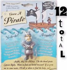 (12) Pirate Cute Peg Leg Man - Grows 600% Larger in Water! - Kids Toy Novelty