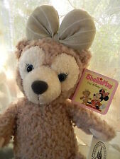 "Disney Parks 17"" SHELLIE MAY BEAR Plush Bow 2015 Duffy Friend USA Seller NWT"