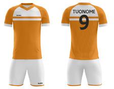 FOOTEX Completo Olanda Personalizzabili Con Nome Numero Gratis Arancione/Bianco