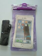 Viteen Waterproof Phone Case With Lanyard & Strap. Purple. Pool, Sea. Extra safe