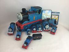 Lot Of Thomas the Tank Engine wooden train cars, Thomas Take N Play Carry case