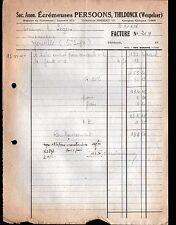 """THILDONCK (BELGIQUE) USINE d'ECREMEUSES BARATTES pour LAITERIE """"PERSOONS"""" 1940"""