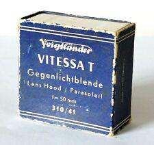 Voigtlander Vintage Bessamatic Vitessa T Lens Hood Retail Box - Empty Box Only