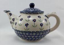Bunzlauer Keramik Teekanne, Kanne für 1,5Liter Tee, (C017-ASS), Blumen