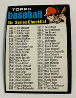 1971 Checklist 6th Series # 619 Topps Baseball Card