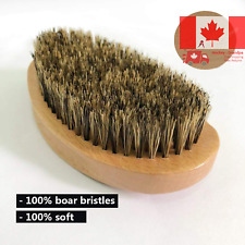 Beard Brush boar bristle shaving brush Exfoliates Skin Helps Softening and Co...