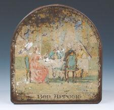 Seltene Blechdose mit figürlichem Motiv wohl um 1900
