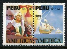 Peru MNH Discovery of America 500th Ann Columbus 1992 UPAEP x17212
