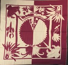 Authentic Hermes GM Cashmere Scarf Shawl 140cm Brazil Tattoo Fuchsia Pink SAVE!