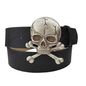 Silver Skull Cross bone Belt