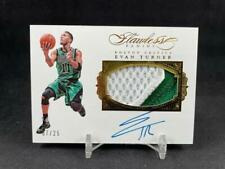 2015-16 PANINI FLAWLESS EVAN TURNER PA-ET GOLD PARALLEL JERSEY PATCH AUTO 07/25