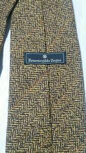 Ermenegildo Zegna cravatta tie seta silk cashmere marrone brown righe A385