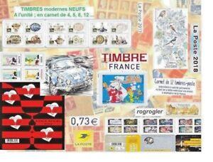 Timbre NEUF carnet bloc lettre verte 2018 2019 boucheron rykiel France fleur ESA