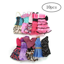 10pcs Mini Dresses for Doll Party Dresses Clothes Gown Random Color