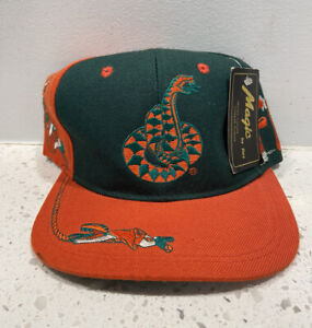 Vintage 90s NCAA College Florida A&M University Rattlers Snap Back Hat Magic Bee
