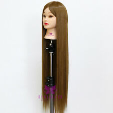 """30"""" Styling Hairdressing Hair Training Head Mannequin Doll Model + Free Clamp"""