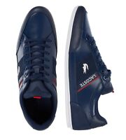 New Lacoste Men Shoes Chaymon 0721 2 Leather Casual Sneakers Shoes Navy White