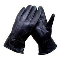 Echt Leder Herren Handschuhe Lederhandschuhe Winter Herrenhandschuhe Schwarz XL