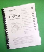 LASER Printed Olympus E-PL3 Camera 127 Page Owners Manual Guide