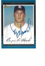 2002 Bowman Ben Howard San Diego Padres Authentic Autograph COA
