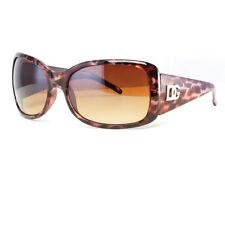 DG Womens Fashion Designer Sunglasses Shades Rectangular Gold Brown Animal Print