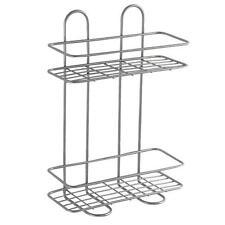 Griglia rettangolare per box doccia 26x11x35h cm contenitore accessori bagno