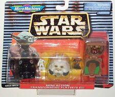 Star Wars MICRO MACHINES MINI HEADS Set #8 VIII MOC TIE Pilot, Wampa, Wicket