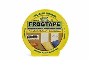 Painters Masking Tape | Frog Tape Yellow DELICATE Surface Indoor | 24mm x 41.1m