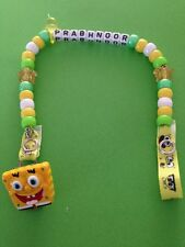 Personalised Dummy Clips - Spongebob - Handmade - Can have any name