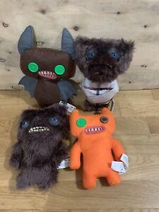 Joblot Bundle of 4 x Fuggler Soft Plush Ugly Monster Toys Teddy