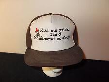 VTG-1980s Kiss Me Quick Handsome Cowboy Princess Frog Toad snapback hat sku12