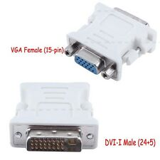 Digital DVI-I Male to VGA Female M/F Video Connector Adapter Fr Laptop Monitor B