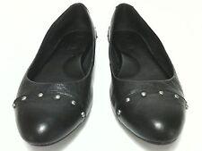 Korks Womens Black Leather Ballet Flat Comfort Shoes US 8.5 EU 40 UK 7 EUC
