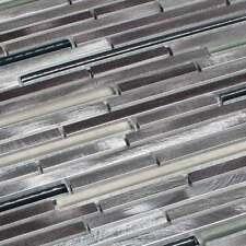 métal CARRELLAGE mosaïque METALIQUE ALUMINIUM verre gris Pâte de