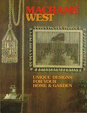 Vintage 1970's Swag Macrame Hanging Lamp Pattern Macrame West Craft Book Mw101