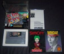 [PLAYERS CHOICE] Sim City (SNES, 1991) FULLY COMPLETE GAME + PLASTIC PROTECTORS